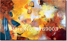 Large Abstract modern canvas knife paint famous artist handmade oil painting on canvas for living room wall office decoration