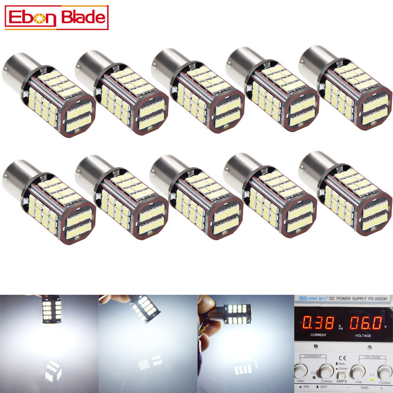 10Pcs 1157 BAY15D P21/5W LED Car Motorcycle Bulb 6V DC 840LM Motorbike Tail Brake Stop Parking LED Light Lamp White Dual Beam-in Signal Lamp from Automobiles & Motorcycles