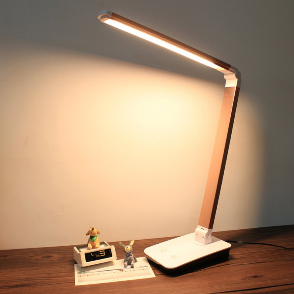 Foldable 4-level Dimmable Touch Desk Lamp LED Table Light Touch-Sensitive Controller UK Plug 4 Colors 12W dimmable touch sensor powerful led desk lamp eye protection 5 level dimmer 4 lighting modes table lamp lamparas led r25