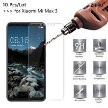10 ชิ้น/ล็อต 2.5D 0.26 มม.กระจกนิรภัย 9HสำหรับXiaomi Mi Max 3 หน้าจอป้องกันฟิล์มสำหรับXiaomi mi Max 3 Max3 2018