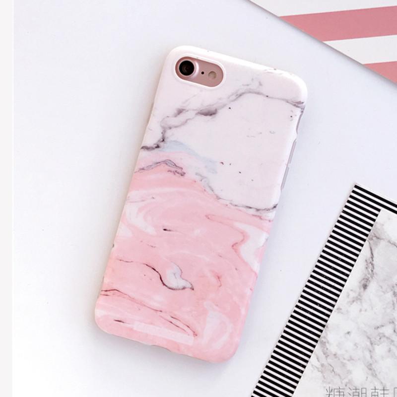 HTB1bqmYOXXXXXbfXFXXq6xXFXXXH - Light Pink Marble Stone Pattern Soft Silicon Phone Cases For iPhone 7 Plus 6 6S Plus Shell PTC 100