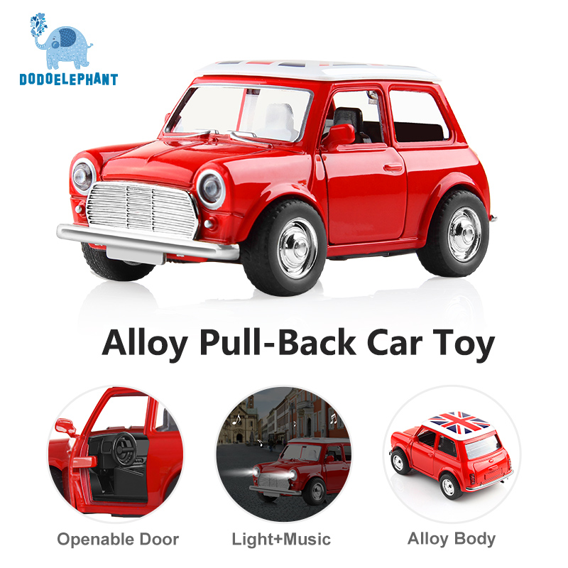 Image 2 - Alloy Car Toy Vehicles Acousto optic Toy Mini Pull Back Car Metal Diecast Vehicle door open classic cars For Boys W light sound-in Diecasts & Toy Vehicles from Toys & Hobbies