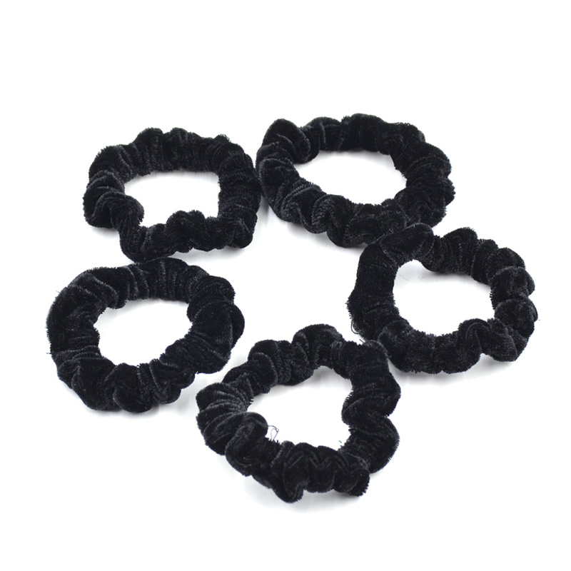 Lychee 5 pieces Velvet Hair Rope Tie Elastic Hair Band Scrunchie Scrunchy Head Band Pony ...