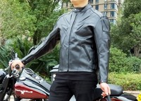 Hot sales Men PU winter jacket professional racing jacket motorcycle jacket delivery 5 sets of protective gear waterproof jacket