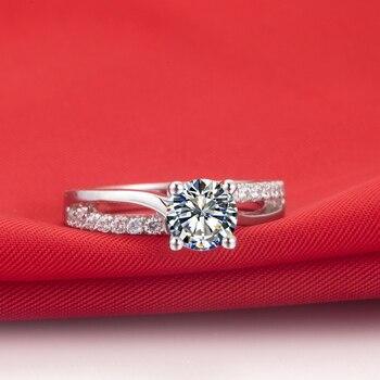 Solid Platinum 1CT Diamond Engagement Ring  4