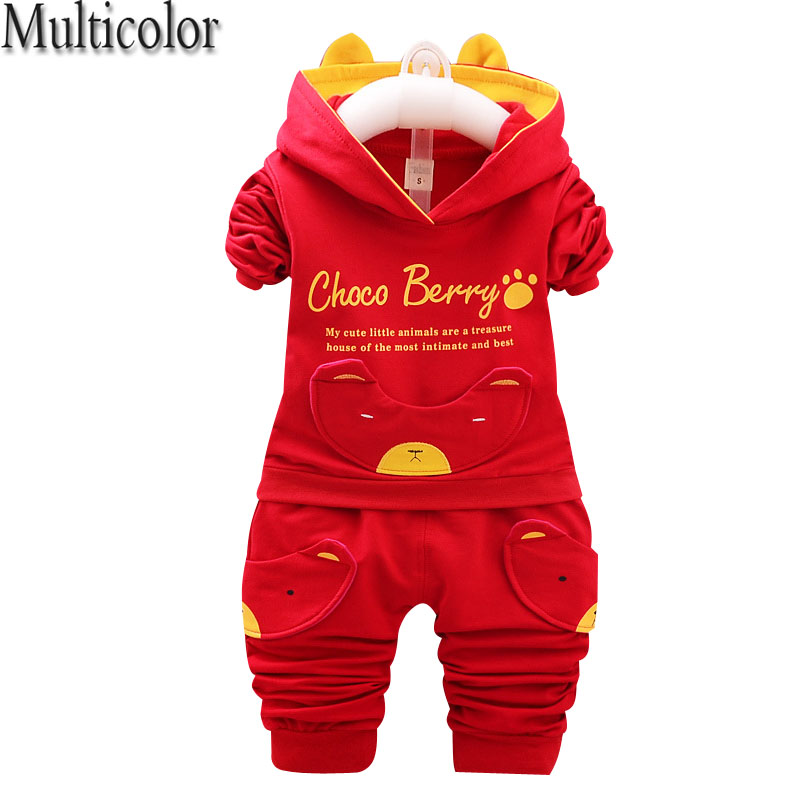 2017 Autumn Kids Clothing Sets Baby Boys Girls Cartoon  Cotton Set Winter Children Clothes Child T-Shirt+Pants Suit
