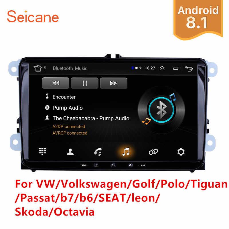 Seicane 2Din アンドロイド 8.1 カーマルチメディアプレーヤー Vw/フォルクスワーゲン/ゴルフ/ポロ/ティグアン/パサート/ b7/b6/シート/レオン/シュコダ/オクタヴィアラジオ GPS