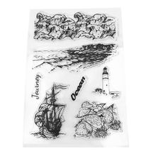 Sailing Boat Lighthouse Silicone Clear Seal Stamp DIY Scrapbooking Embossing Photo Album Decorative Paper Card Craft Art Handmad