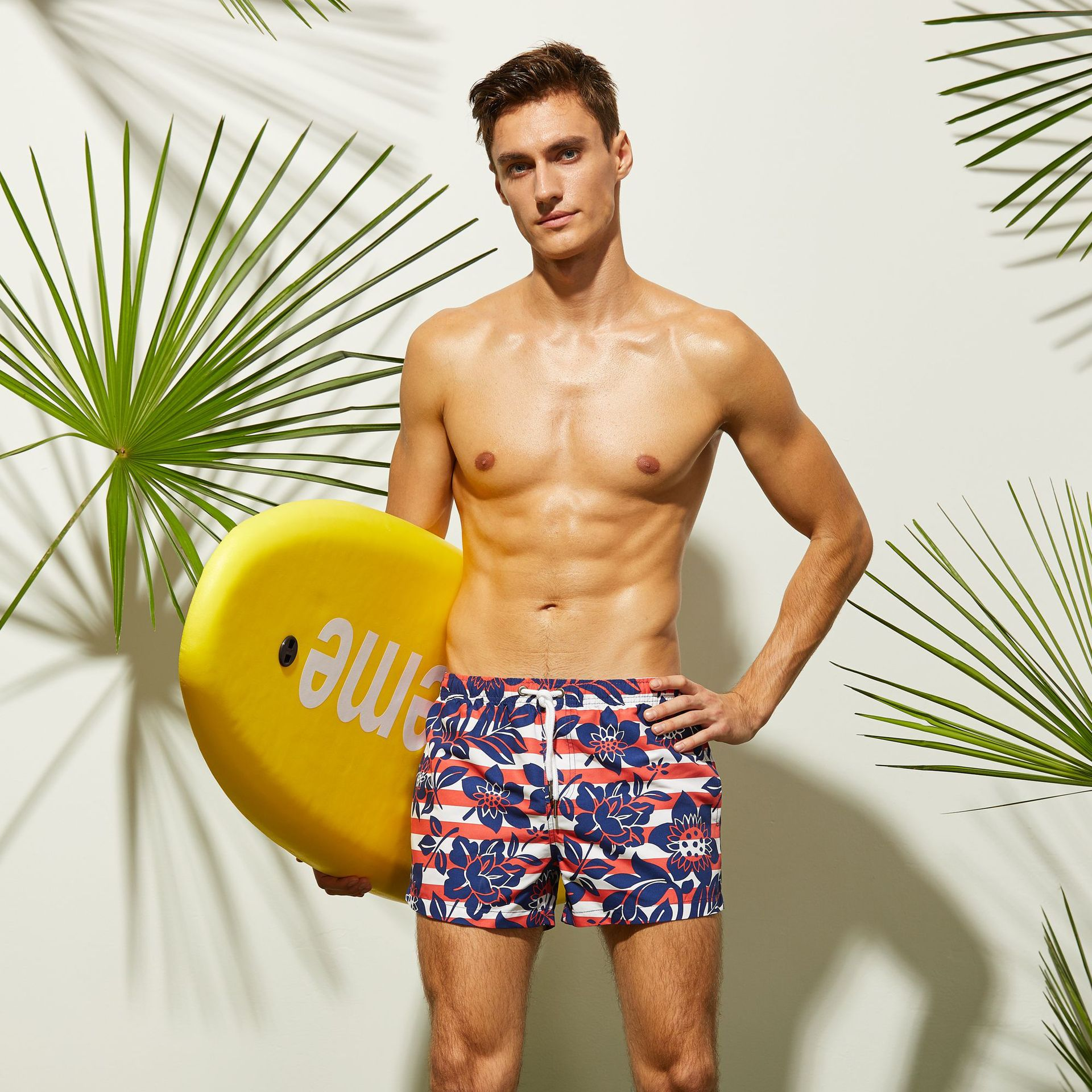 2018 Brand New Men Floral Surf Board Shorts Swimwear Beach Sports Trunks Swimwear Bottom Kasuotang panlangoy