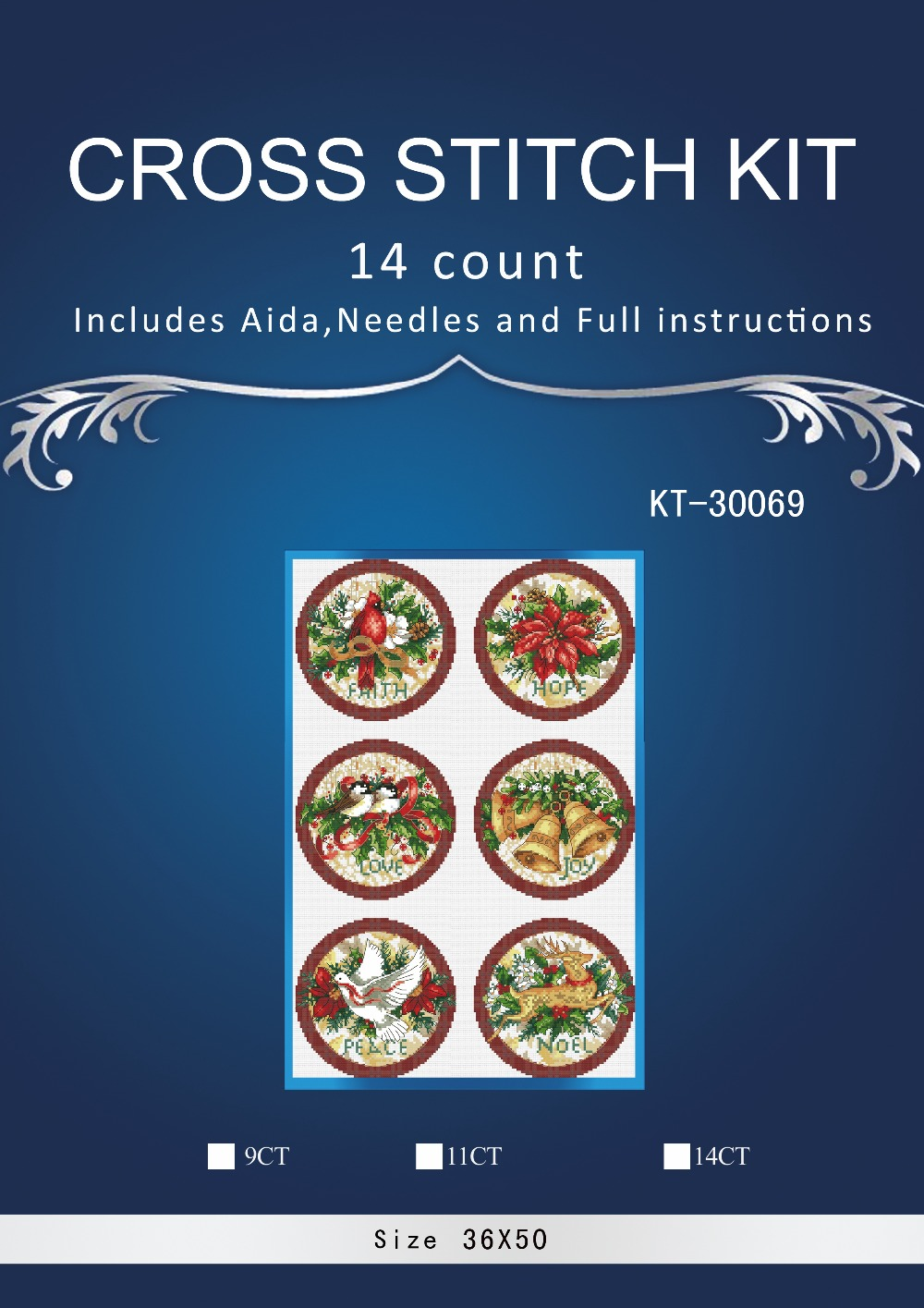 Oneroom Top Quality Lovely Hot Sell Counted Cross Stitch Kit Old World Holiday Ornaments Ornament Dim 08813