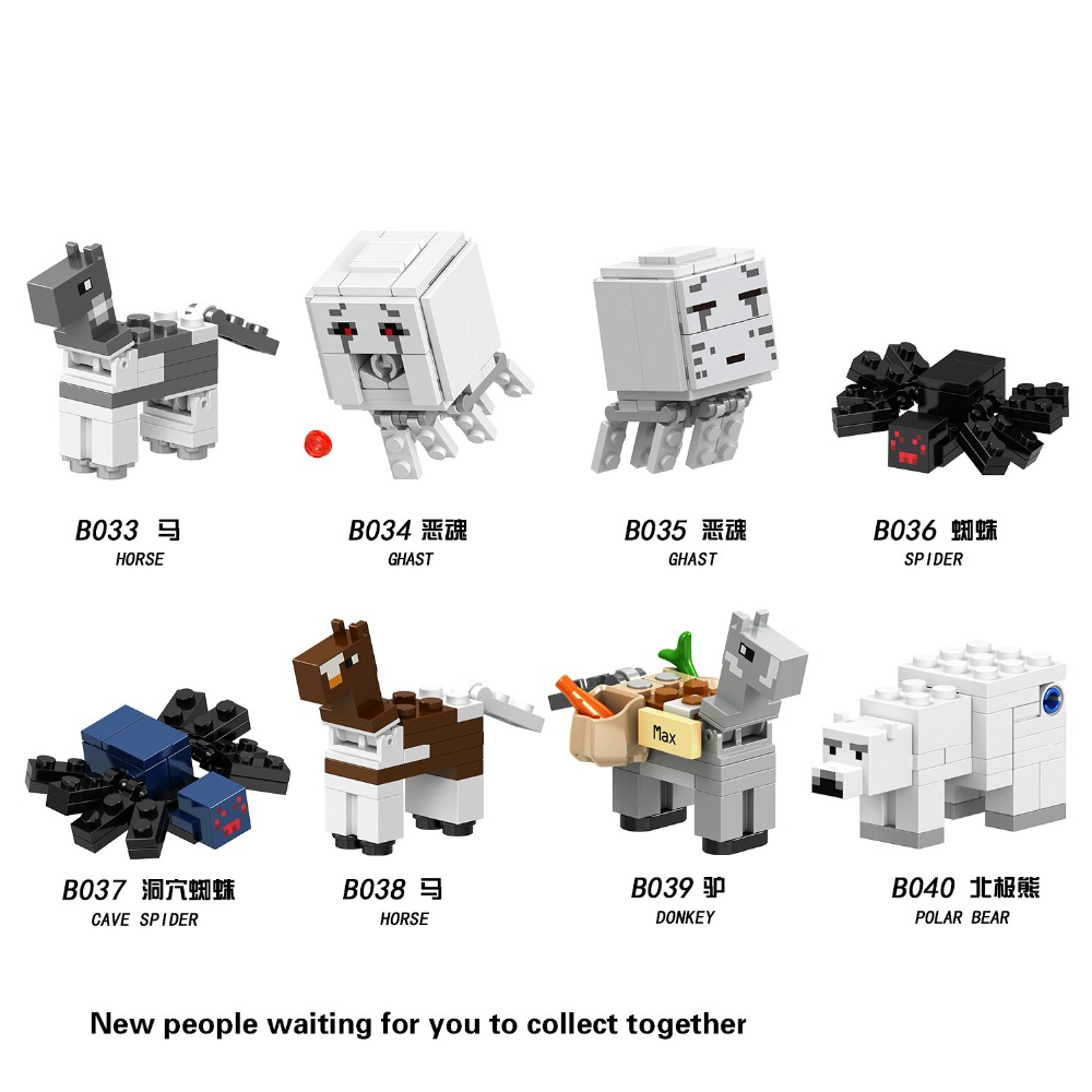 Toys & Hobbies Conscientious 8pc/lot Childrens Building Blocks Toy Compatible Legoing City Minecrafteds Diy Figures Bricks Birthday Gifts Birthday Gifts Big Clearance Sale