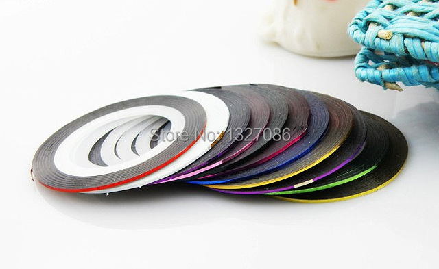 10pcs Striping Tape Line Nail Art Sticker Decoration DIY Decals UV Gel Acrylic Nail Tips
