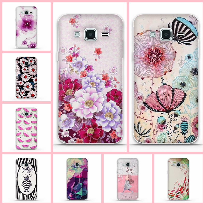 For Samsung Galaxy J1 2016 Case Cover for Samsung J1 Case 3D Flower Silicon Cover For Samsung J1 (2016) J120F J120 J120H 4.5