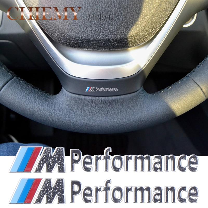 2PC/Lot New Car Decoration ///M Performance Aluminum Stickers Decals for BMW X1 X3 X5 X6 E34 E36 E39 3 5 7 Series Car-Styling автомобильная ключница huazun x1 x3 x5 x6 bmw 1 3 5
