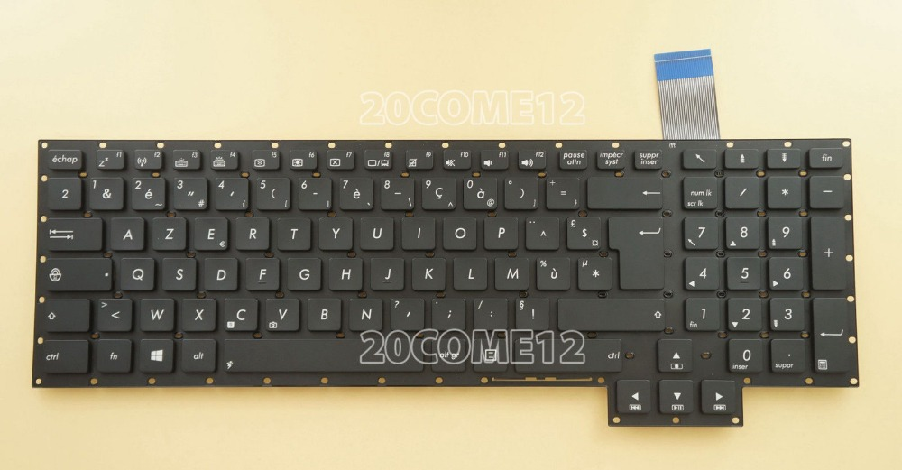 New notebook Laptop keyboard for  ASUS GFX70JS GFX70JZ  French/Fr layout new laptop keyboard for asus 0kn80 1120fr00 black windows 8 french layout