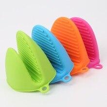 Силиконовые Анти-обжигающие перчатки для духовки Прихватки для кухни перчатки для барбекю поднос горшок блюдо держатель для миски духовки Handschoen ручной зажим