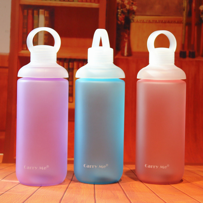 750ml Candy Color Water font b Bottle b font Plastic Cup Portable Sport Water font b