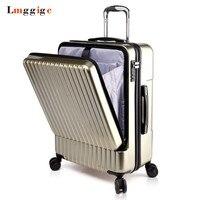 20 24 дюймов Spinner Сумки на колесиках Дорожный чемодан сумка с сумкой для ноутбука, ПК + чемодан на колесах из АБС, переноска с колесом, коробка