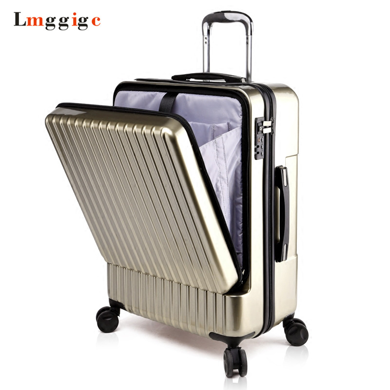 2024 inch Spinner Rolling Luggage Travel Suitcase Bag with laptop bag,PC+ABS Trolley Case,Carry-On with wheel, Box with Lock abs hardside rolling luggage set with handbag women travel suitcase bag with cosmetic bag 2022242628inch wheel trolley case