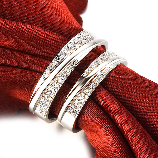 GVBOR 028 Carats I J SI Luxury Lovers Couple Diamond Wedding Ring For Women Man I8K Gold Promise Fine Jewelry Engagement In Rings From