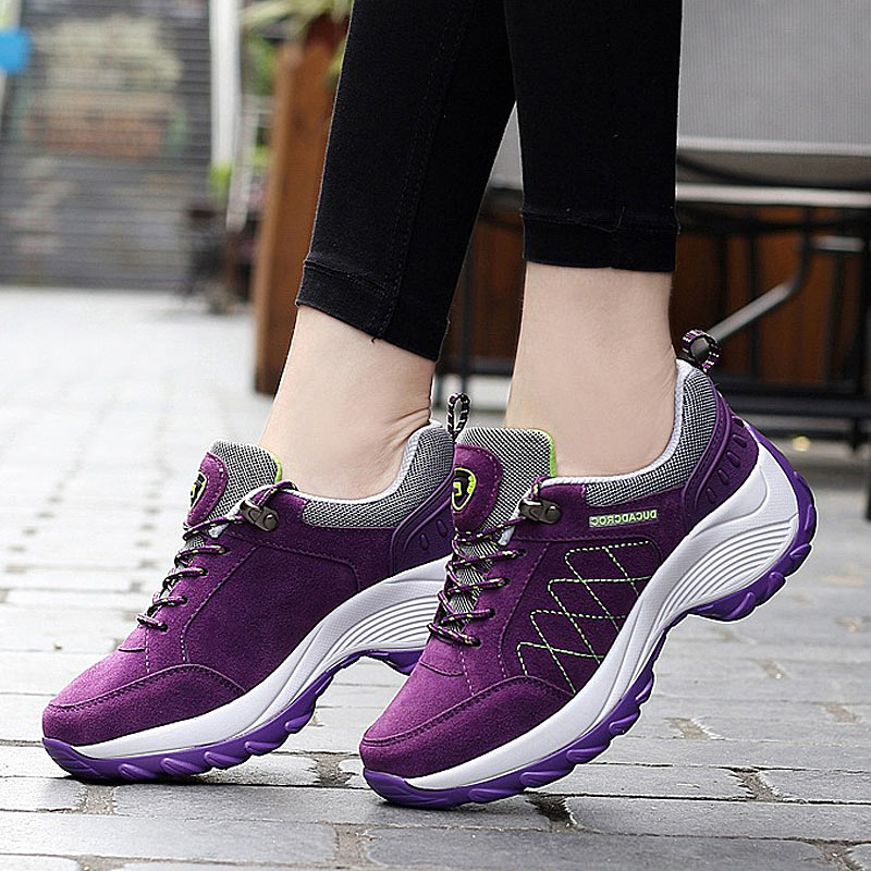 Sneakers For Women Casual Shoes Lace-up Platform Shoes Woman Wedge Non-slip Women Sneakers Ladies Sport Shoes Tenis Feminino