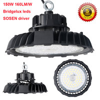 5years warranty 150W led highbay light 160lm/W UFO light AC85 265V 24000lm led high bay lamp for warehouse stock factory light