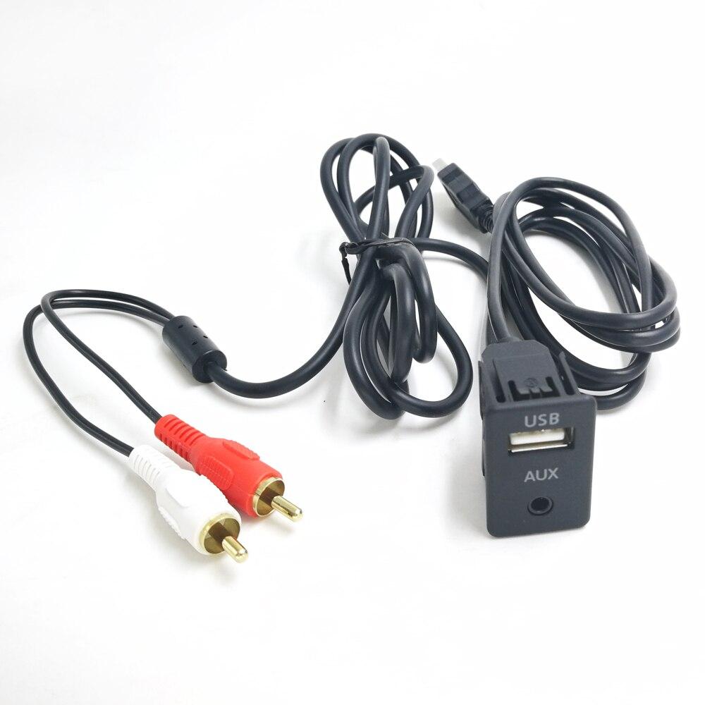 Biurlink 1,5 м фотоадаптер переключатель 3,5 мм аудиоразъем RCA USB кабель удлинитель монтажный кабель для Volkswagen Toyota