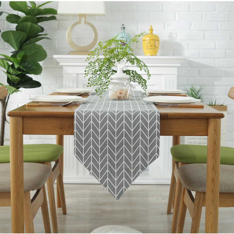 Image 2 - Modern Table Runner chemin de table Table Runners for Wedding Party Palm Leaf camino de mesa tafelloper Monstera Leaf Placemat-in Table Runners from Home & Garden