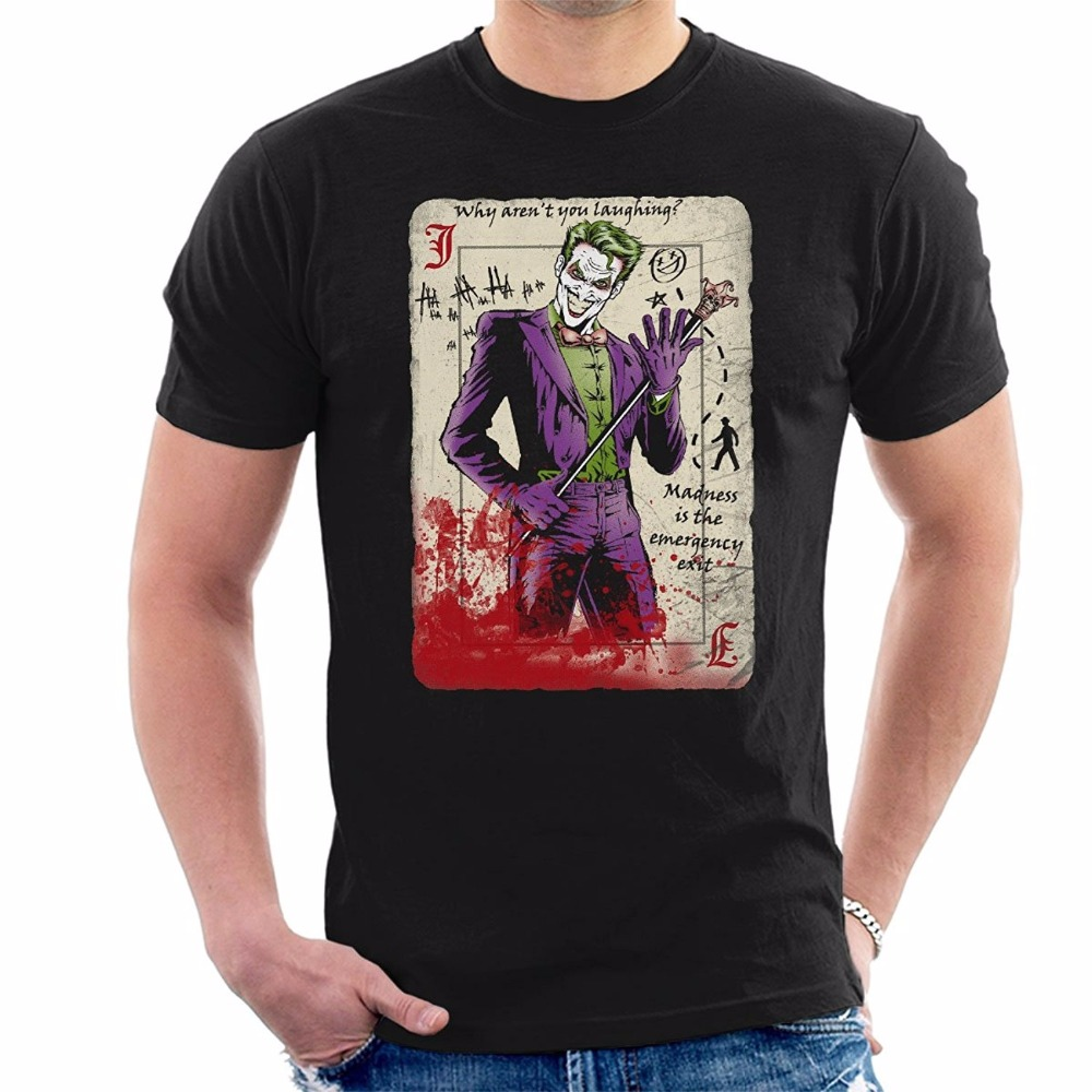 Fashion Men's T-Shirt Dark Knight Joker <font><b>Master</b></font> <font><b>Criminal</b></font> T-Shirt Mens Funny Tshirts New Fashion T Shirt Graphic Letter