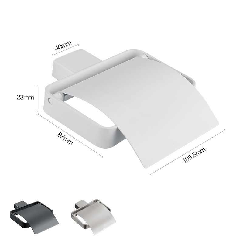 المعاصر نمط ماتي الأسود المقاوم للصدأ الأنسجة لفة ورق التواليت حامل ورق الحمام المطبخ شماعات الجدار Mount-6201