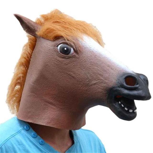 Creepy Licorne de Cheval Animal Tête Latex Masque Halloween Costume Théâtre  Prank Prop Crazy Party Masque