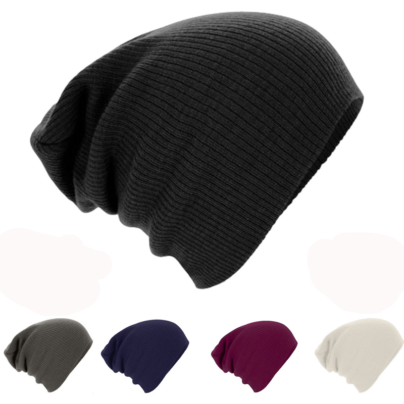 Women Men Unisex Knitted Winter Cap Casual Beanies Solid Color Hip-hop Snap Slouch Skullies Bonnet Beanie Hat Gorro Bonnet Femme hip hop beanie hat baggy unisex cap thick warm knitted hats for women men bonnet homme femme winter cap plus velvet beanies