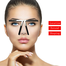Permanent Makeup eyebrow stencil Tattoo Eyebrow Ruler Measure Tool Metal Rulers zablon do brwi Shaping Stencil Tools