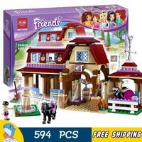 594pcs Friends Girls Heartlake Riding Club Stables 10562 Model Building Blocks Princess Assemble Toy Bricks Compatible