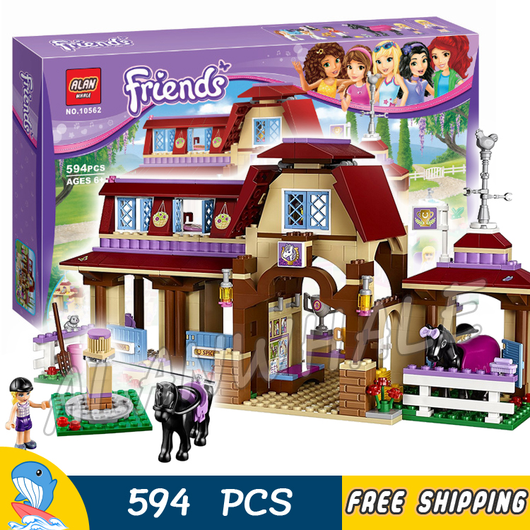 594pcs Friends Girls Heartlake Riding Club Stables 10562 Model Building Blocks Princess Assemble Toy Bricks Compatible with Lego ковер stables