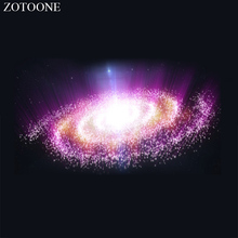 ZOTOONE Sewing Motif Rhinestones for Needlework Crystal Clear Hotfix Rhinestone Galaxy Applique Clothes Decoration E
