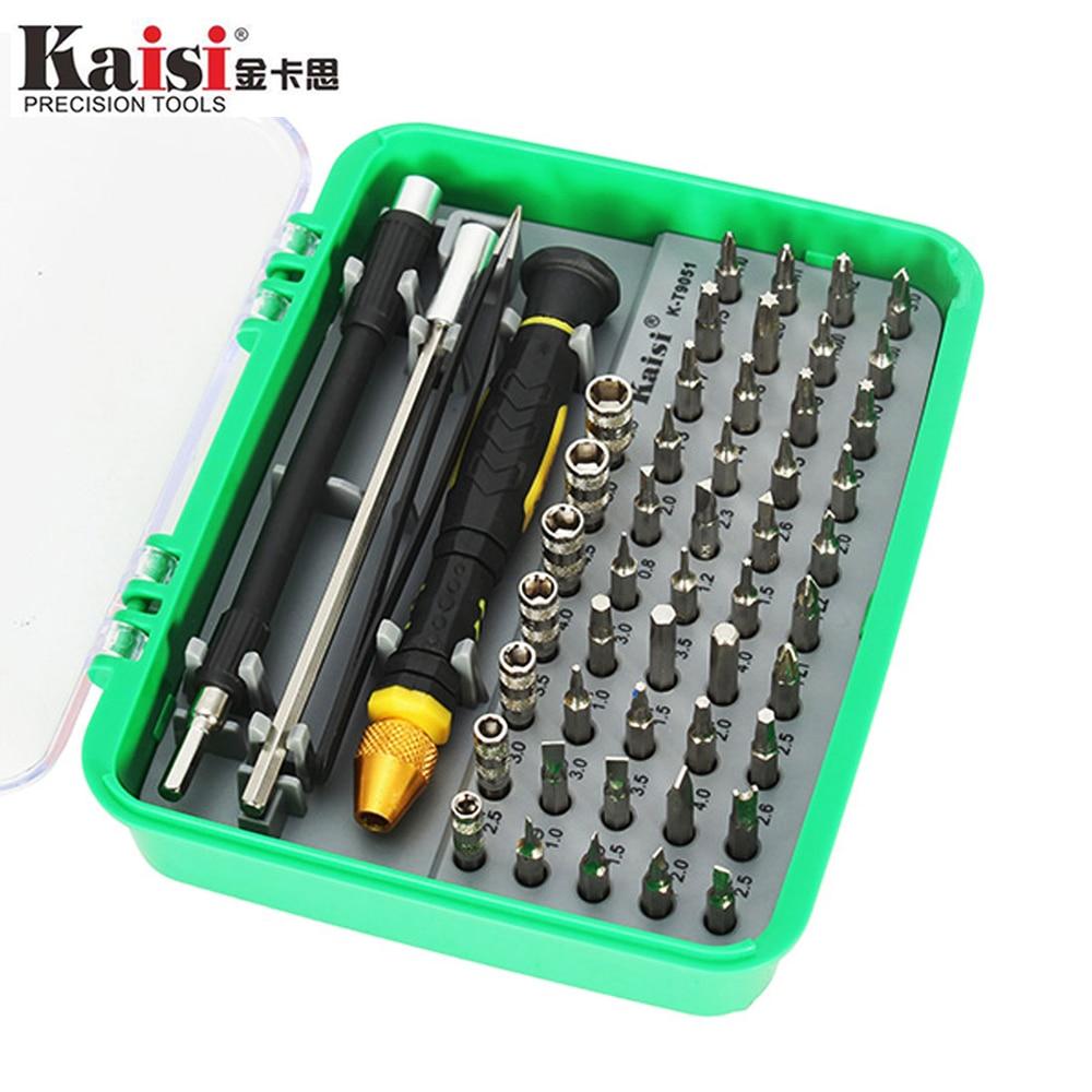 Kaisi 51-in-1 Magnetic Screwdriver Set Opening Tool Kit Versatile Screw Driver Bits Repair Tools for Mobile Cell Phones Laptop mono efx producer bag black versatile tool kit for digital creators