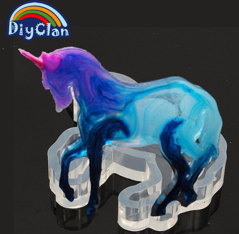 Unicorn Silicone Mold Animal Horse Mould for Pendant Jewelry Phone Case Decor Resin Fimo Clay epoxy resin jewelry making E0009MA