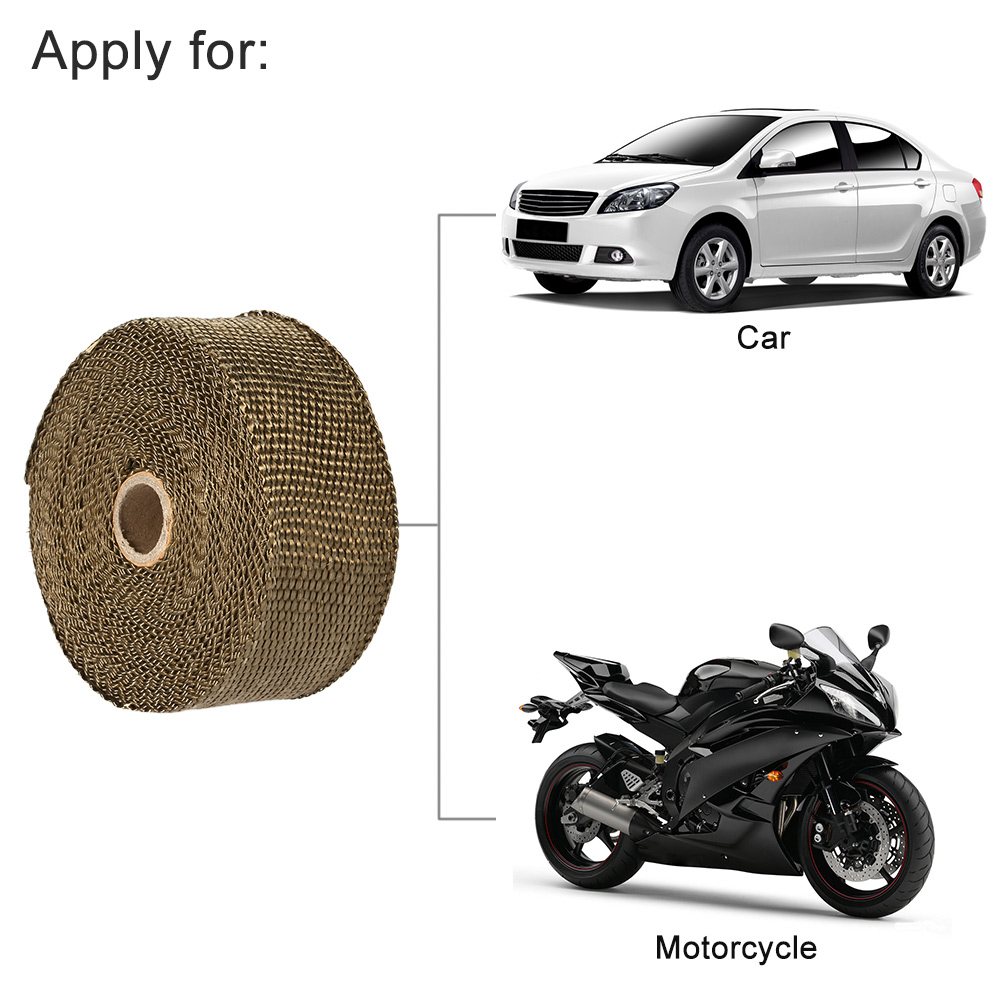 Fiberglass Insulation Clothes 10m5cm15mm Titanium Fiber Heat Wrap Cloth High Resistant Wiring Insulating Tape 15m Exhaust Manifold 10 Cable Ties For Car Motorcycle In Systems From