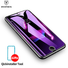 SmartDevil Tempered Glass For iPhone X 6 6s Screen Protector Apple 7 8 Plus Anti Blue Light Protective Film