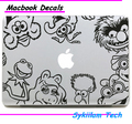 Animal World for Elmo for apple Sticker for Macbook Air 11 12 13 Pro 13 15 17 Retina Laptop Computer Wall Vinyl Decal