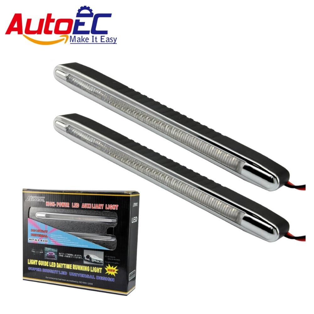 AutoEC 5set авто дополнительные фары дневного света DRL Противотуманные фары для Универсальный автомобиль украшение 2 шт./комплект #LM146