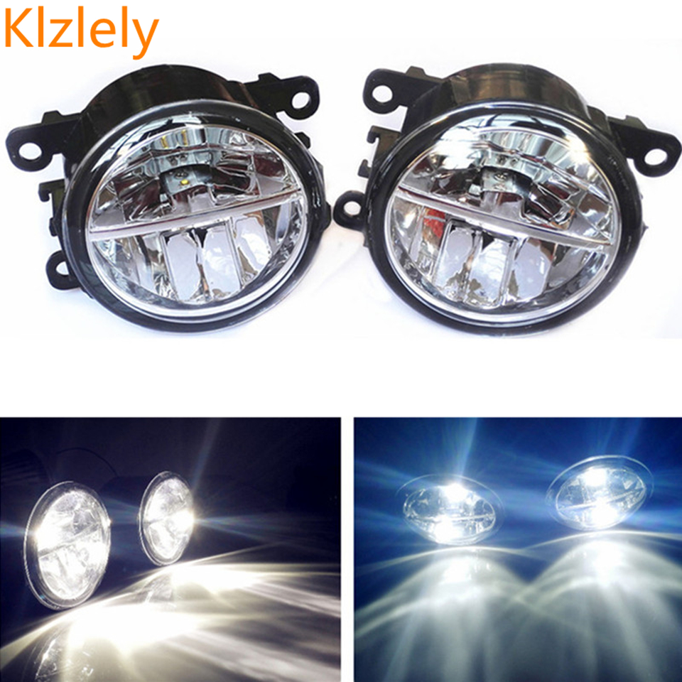 For Mitsubishi OUTLANDER 2 PAJERO 4  L200 Grandis 2003-2016 Car-styling LED fog lamps10W high brightness lights 1set fog lights for mitsubishi pajero sport 2008 2015 1 set 2 pcs car accessories styling car decoration automotive front light