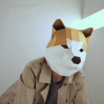 Маска ручной работы собака Акита