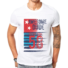 Awesome Dude Chicago Team Letter Printing Men T Shirt Cotton Geometric Design Man T-shirt Short Sleeve Popular Mens Tee Shirts недорого