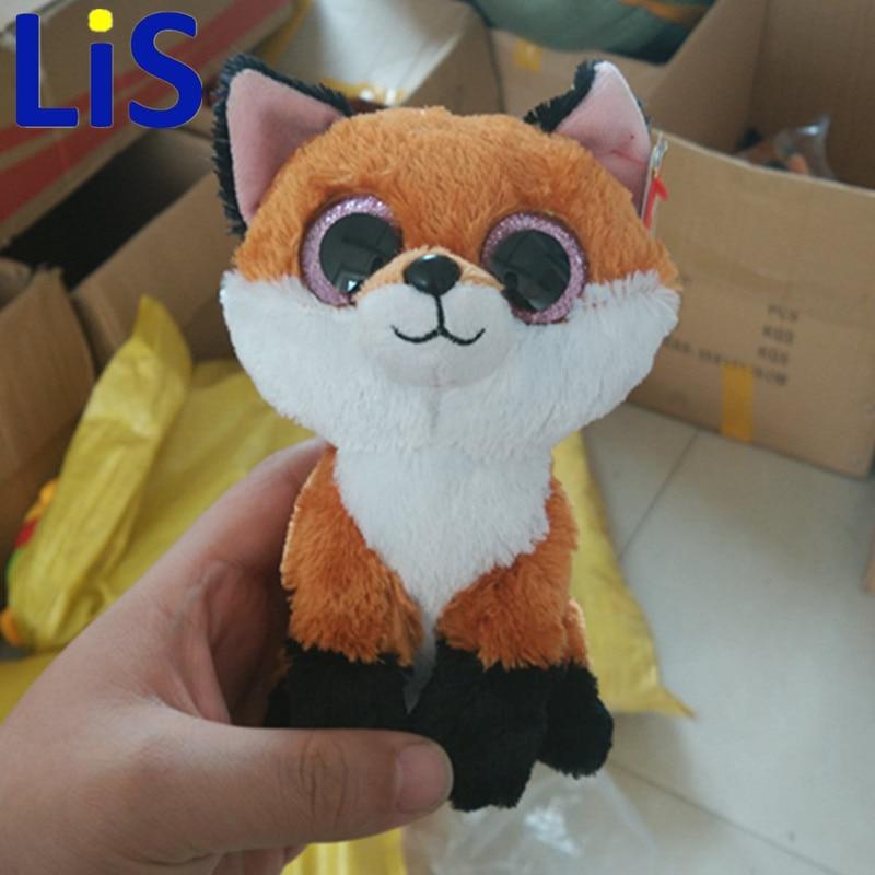 Лис Ty Beanie Боос FAY Brown Fox 6 дюймов большие глаза Берет Детские плюшевые игрушки куклы Коллекционные Мягкие плюшевые игрушки для детей подарок