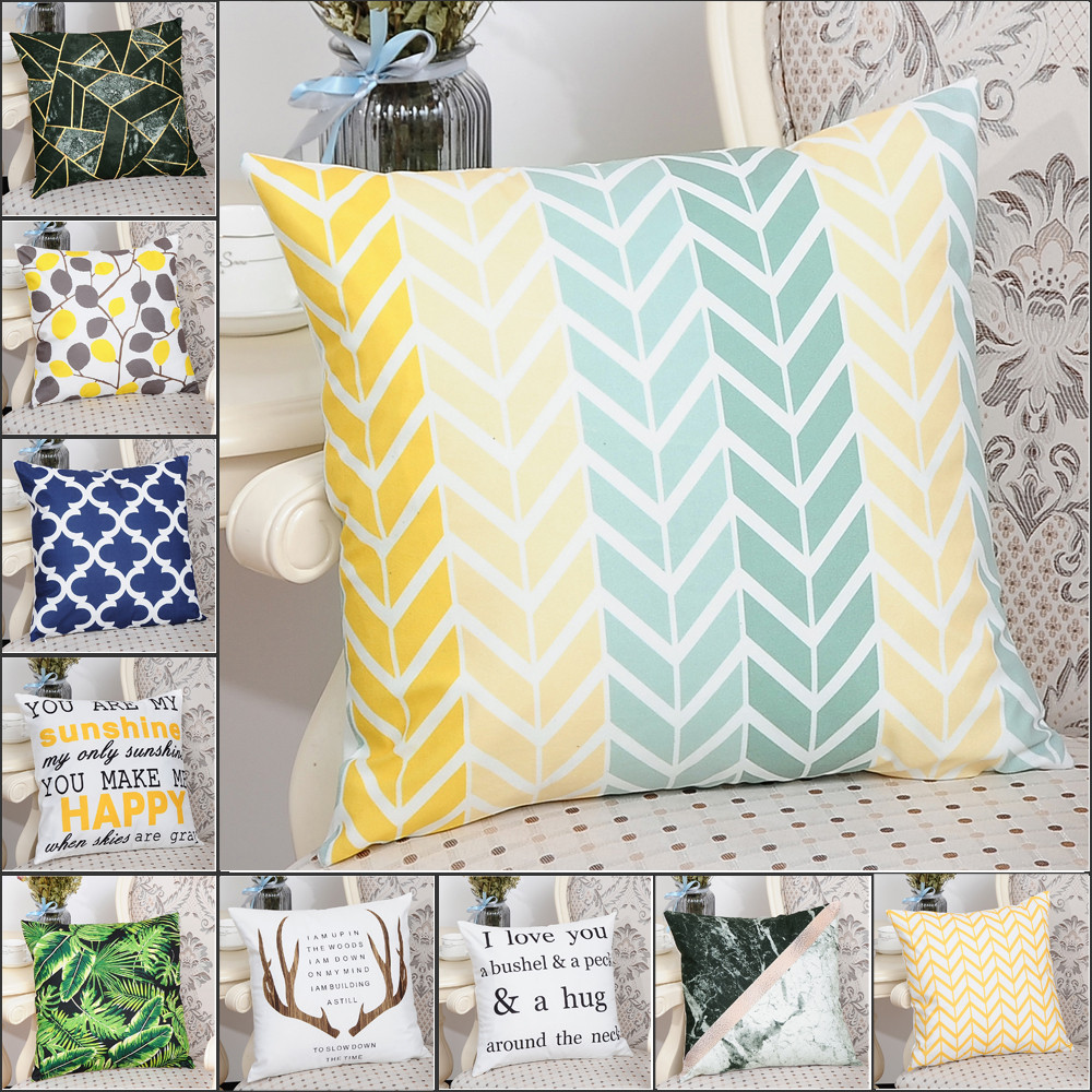 Electronic Components & Supplies Home Decor Geometric Pattern Cotton Flannel Cushion Cover Decorative Pillows Cover For Sofa Seat Square Soft Throw Pillow Case 45x45cm To Be Highly Praised And Appreciated By The Consuming Public