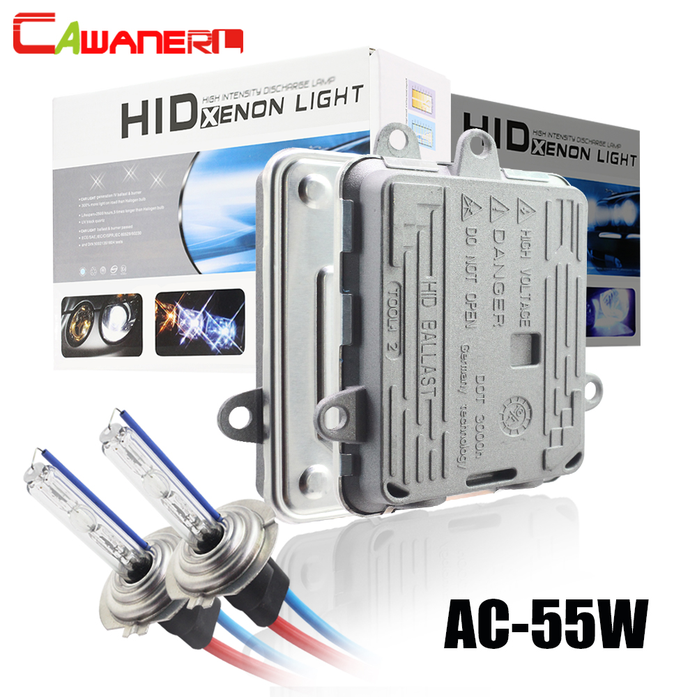 Cawanerl H1 H3 H7 H8 H11 9005 HB3 9006 HB4 881 Car Xenon Light HID Kit AC Ballast + Bulb 55W 3000K-8000K For Headlight Fog Light недорго, оригинальная цена