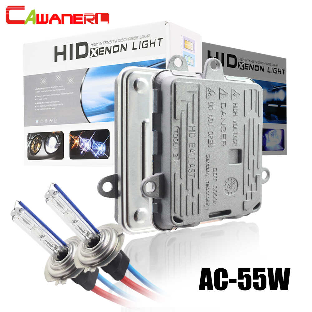 Cawanerl H1 H3 H7 H8 H11 9005 HB3 9006 HB4 881 車キセノンライト HID Ac バラスト + 電球 55 ワット 3000 K-8000 12000k ヘッドライトフォグライト