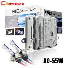 Cawanerl H1 H3 H7 H8 H11 9005 HB3 9006 HB4 881 araba Xenon ışık HID kiti AC balast + ampul 55W 3000K 8000K ön far sis lambası